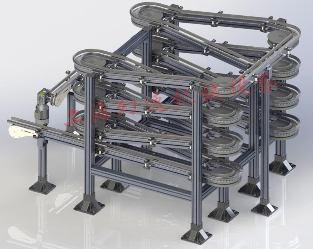 柔性链板线环形螺旋的设计安装